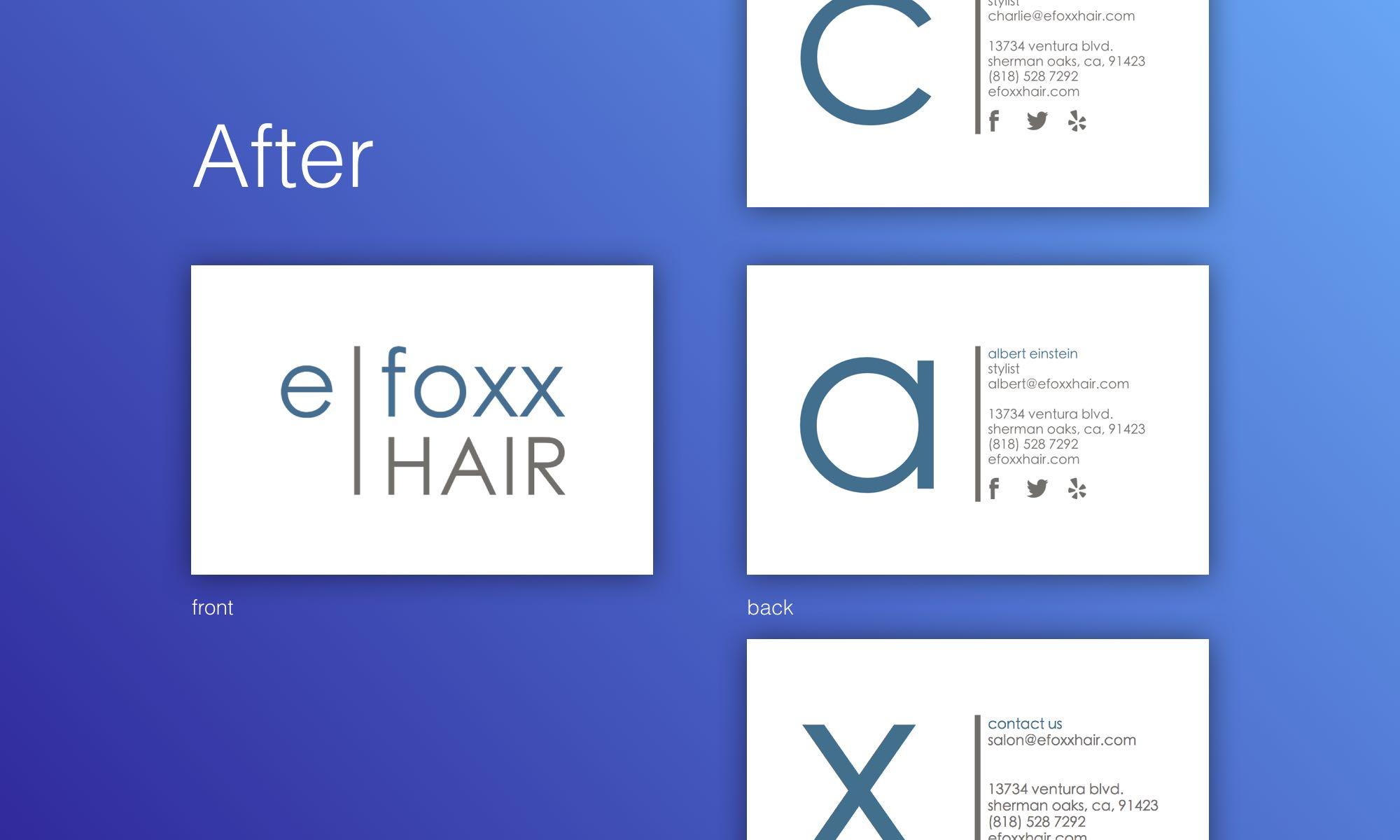 efoxx Hair after